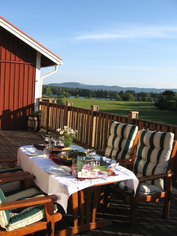 the balcony - Kullerbacka Guesthouse in the middle of Sweden - Gävleborg  - rentals