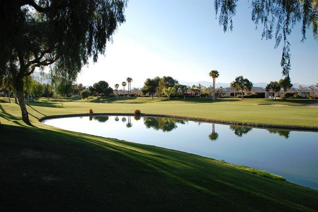 Veiw from the Living Room and Yard - Pond View Villa at Desert Princess Country Club - Cathedral City - rentals