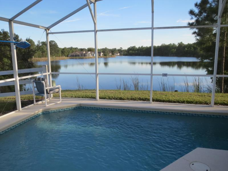 Lake view from pool patio area - Disney Area South Facing Lakefront 2 King Masters - Davenport - rentals