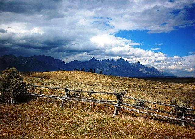 View of Grand Teton From House - Bordering Grand Teton National Park - Jackson - rentals