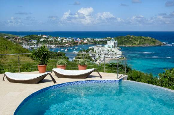 Summerwinds Villa...Oyster Pond, Dutch St. Maarten - SUMMERWINDS...hillside with stunning ocean views in Oyster Pond - Oyster Pond - rentals