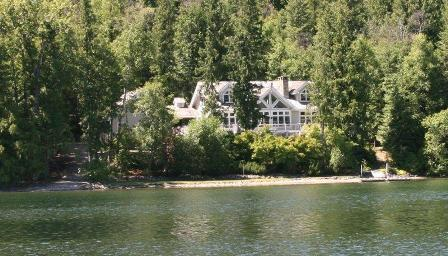 Swan Shores Lodge Lakefront Log Home - Swan Shores Lodge 200 ft. Lakefront on Swan Lake - Bigfork - rentals
