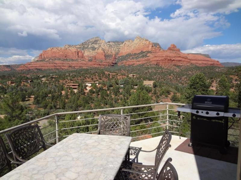 On top of the world views, with multiple decks - Hot Tub-Red Rock Views-Luxury-Private-Value Home - Sedona - rentals