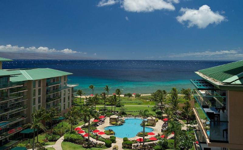 Fabulous view of Lanai, ocean & pool! - Penthouse Oceanview Studio - Ka'anapali - rentals
