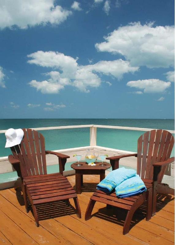Sun, sand and surf from the sunset deck. - Pearl Beach Inn --- On the Beach - Englewood - rentals