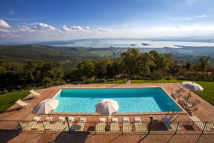 Villa Gosparini, magnificent hilltop villa with an unique view of the lake. - Image 1 - Cortona - rentals