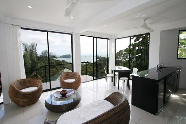 Lounge view - Casa Capuchin , 4 bedroom Ocean View Home - Manuel Antonio National Park - rentals
