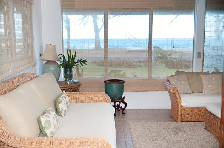 living room - Come Relax at our Blue Ginger Beach House, Oahu - Punaluu - rentals