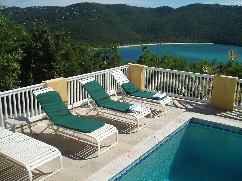View of Magen's Bay from the Pool - Sea Dreams St Thomas Villa near beach with pool - Saint Thomas - rentals