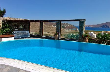 Enchanting Panormos Bay House with sea and hillside views, lush grounds & pool - Image 1 - Agios Sostis - rentals