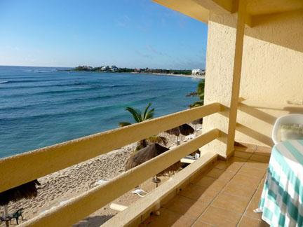 view from terrace - Casa Caribbean, Waterfront 2 bedroom 2 bath condo - Akumal - rentals