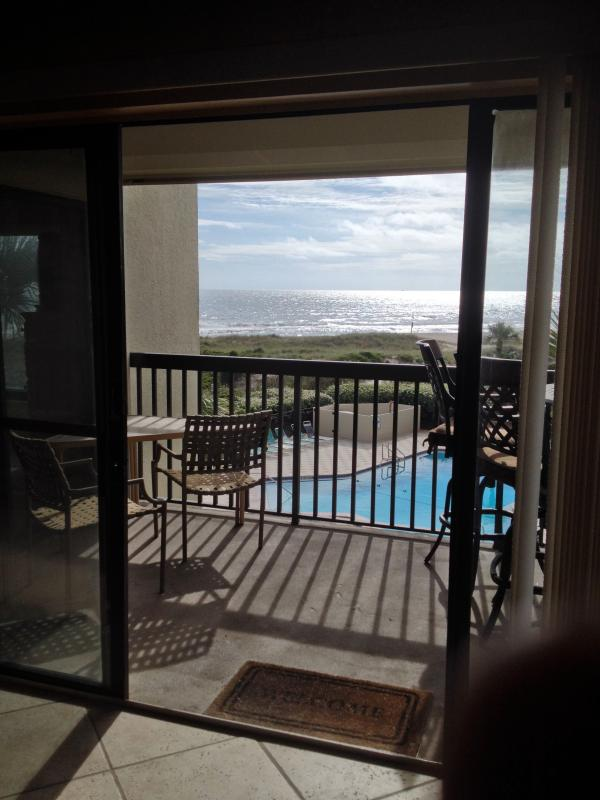 Balcony and View - Oceanfront Condo with Pools Tennis Courts & More! - Fernandina Beach - rentals