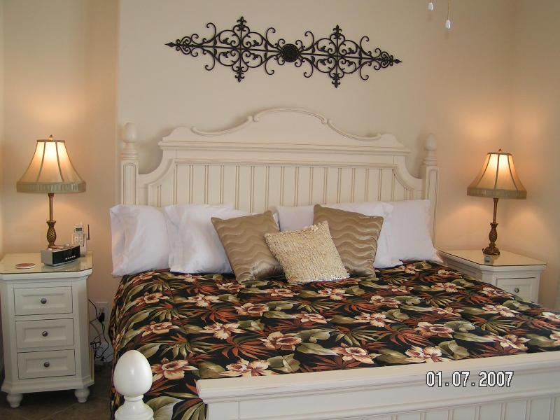 Master King Bedroom, ocean front with sliding doors to the balcony - OCEAN VILLA  #505 *New Carpet* Beach Chairs & WiFi - Panama City Beach - rentals