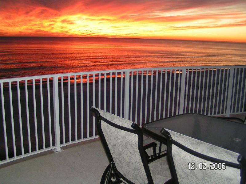 Sunsets are the best at the beach!  Great big balconies help insure you can enjoy them year round. - OCEAN VILLA 2302*Top Floor* Beach Service & Wi-Fi - Panama City Beach - rentals
