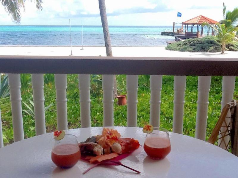 View from balcony and master bedroom - Grand Caribe Resort Luxury Ocean Front Condo Locat - San Pedro - rentals