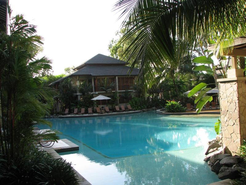 Sea Temple's stunning lagoon pool, our apartment is on the third level directly above. - Sea Temple Palm Cove Queensland Beach Front Resort - Palm Cove - rentals