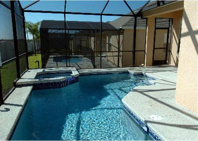 Pool area - ORISTA VILLA: 4 Bedroom Pet-Friendly Home with Private Pool and Spa - Davenport - rentals