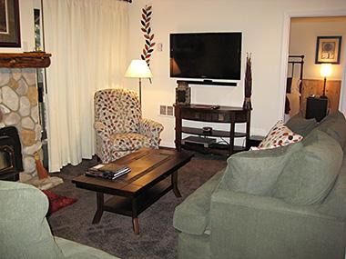 Living Room and Flat Screen TV - Hidden Valley - HV002 - Mammoth Lakes - rentals