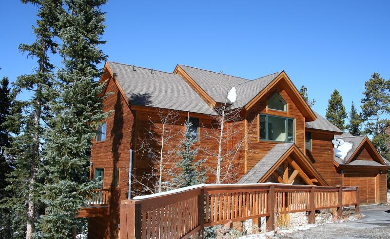 Front Exterior with Colorado Blue Bird Skies - ENDLESS PEAKS -- Luxury, Views & Mountain Charm! - Breckenridge - rentals