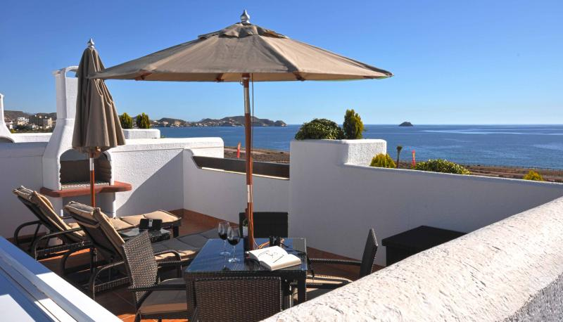 Roof top solarium - Spain Beach Villa (Ocean front with every amenity) - San Juan de los Terreros - rentals