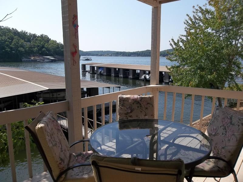 Beautiful view of the main channel from your balcony - Beautiful Lakefront Condo, King Bed, Wifi, Heated - Lake Ozark - rentals