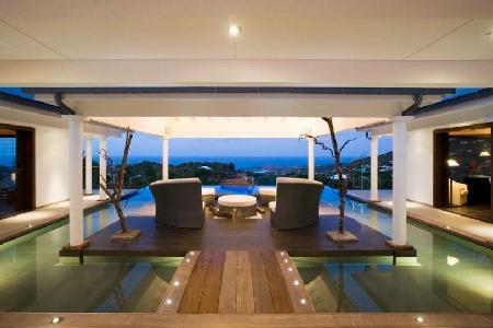 Hillside, ocean view Victoria with central deck surrounded by pool - a must-see - Image 1 - Vitet - rentals