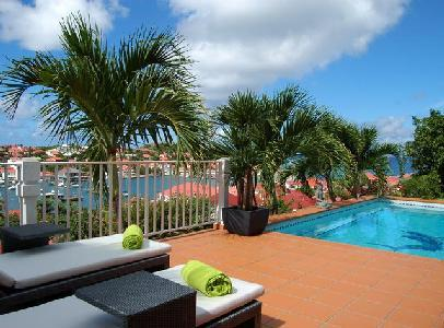 Spacious Le Marlin offers beautiful sunset and harbor views, pool & US Satellite - Image 1 - Gustavia - rentals