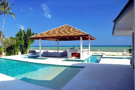 Enjoy Baan Flora - A Lovely Beachfront Villa with Spacious Sun Decks and Pool - Image 1 - Koh Samui - rentals