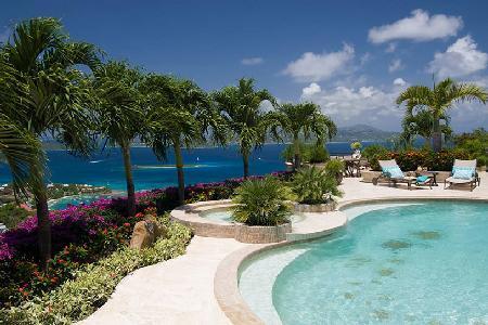 Isla Vista - Magnificent home with stunning interior, dramatic island views & pool - Image 1 - Saint John - rentals