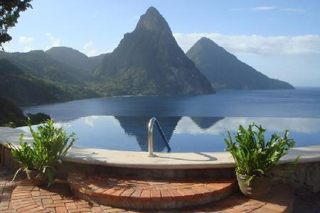 Caille Blanc Villa - Private cliff-side home near beach with 65 ft pool & breathtaking views - Image 1 - Soufriere - rentals