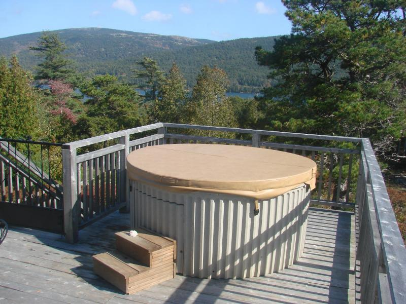 Hot Tub on Upper Deck Overlooking Somes Sound and mountains of Acadia National Park - The Acadia-A Nature Lover's Retreat! +Hot Tub! - Mount Desert - rentals
