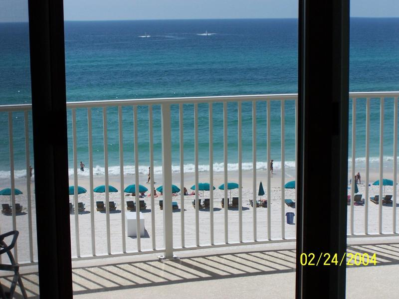 Ocean views from Living Room and Master Bedroom - Ocean Villa 504 * New Carpet 5/14 * Beach Service - Panama City Beach - rentals