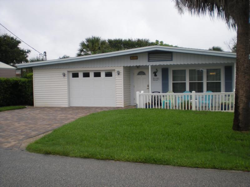 """House Front - The """"Lazy Pelican"""" Beach House at New Smyrna Beach - New Smyrna Beach - rentals"""