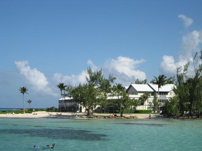Our spectacular beach with trees for shade - Beachfront  Rum Point Retreat #31 Condo Ground Flr - Grand Cayman - rentals