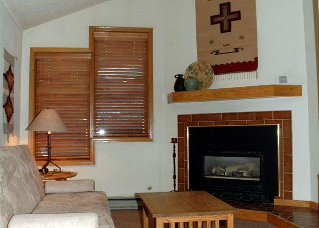 Living area w/futon sleeper, gas fire place & TV w/cable - Very Nice, Ski in Ski Out Studio at the full service Iron Horse Resort - Winter Park - rentals