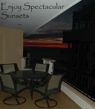 Sunset from Balcony - Oceanfront Historic Luxury Condo #509/ 3bd/2ba, sl - Mazatlan - rentals