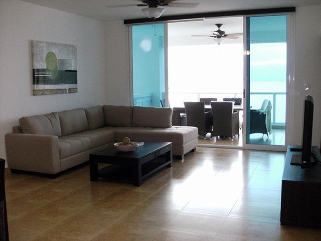 Living Room - Terrazas 12B, 3 bdrm ocean front condo - Farallon - rentals