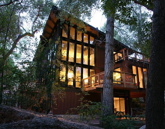 Exterior - 3 story windows - Great 2015 Rates *** Stream Side Modern Retreat - Manitou Springs - rentals