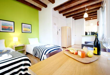 Barceloneta Beach Studio B - Image 1 - Barcelona - rentals