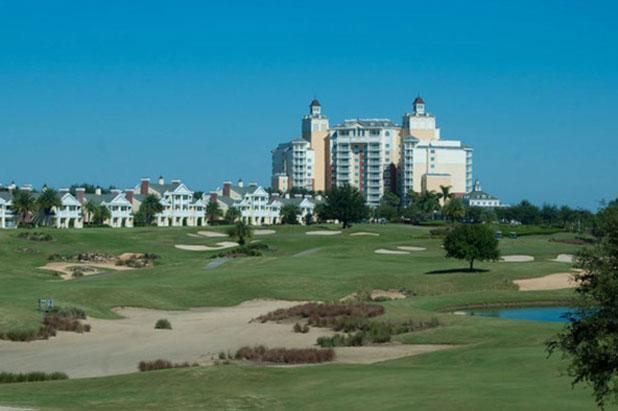 View of the golf Course and Grand Hotel from the balconies - Summer Sales - Golf View w/ Pool,Gamesroom, R - Reunion - rentals