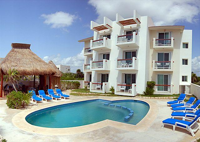 Tan Ik Condos - 2 bedroom beachfront condos with good sized pool.  WiFi, Air Con, Sat TV! - Akumal - rentals