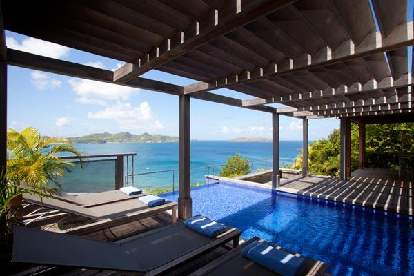 Indonesian style villa high above the ocean with spectacular views WV AMA - Image 1 - Pointe Milou - rentals