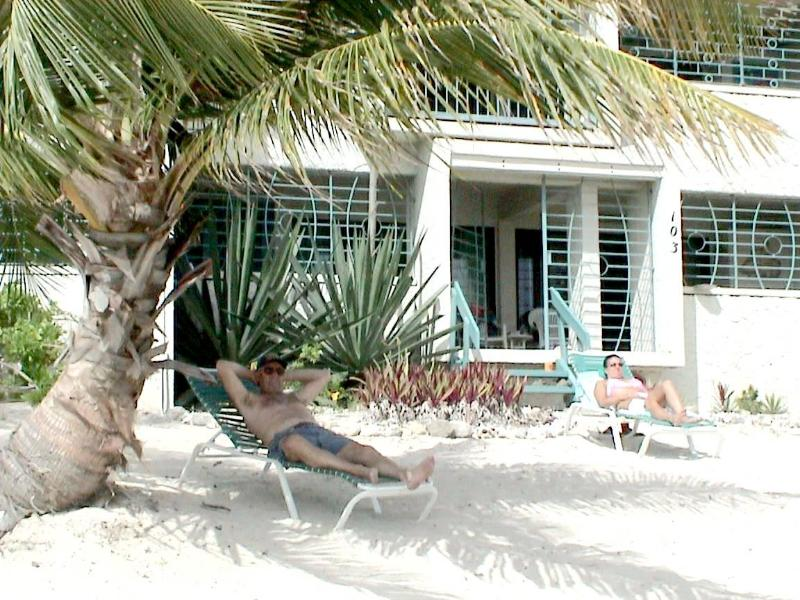 Relax in front of Unit # 103 Sugar Beach - Wesgate at Sugar Beach - Christiansted - rentals