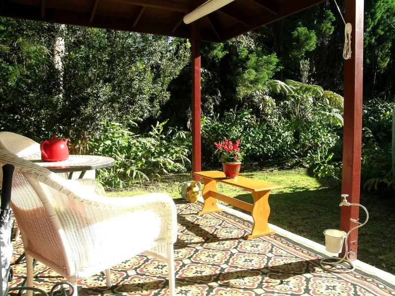 Enjoy bird watching from your Lanai, amid the Ginger, Ferns, and Ohia Trees.... - Volcano Cottage    $100/nt !!! - Volcano - rentals