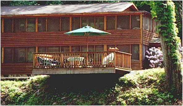 View of the Lodge from across the river - The Cheat River Lodge - Newly Updated Suites - Elkins - rentals