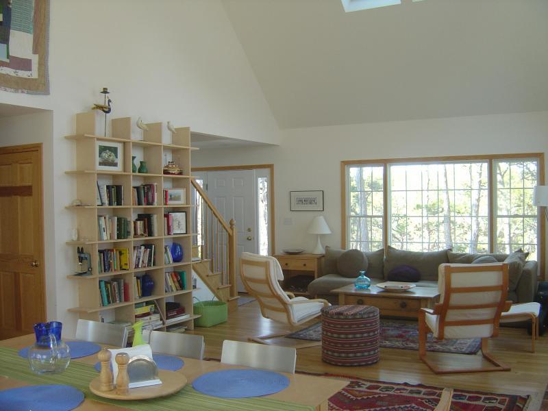 Open living Room Dining Room - Sparkling 2005 Hilltop Contemporary - Wellfleet - rentals