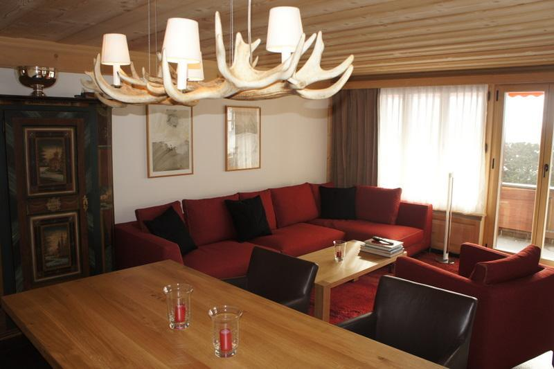 Cosy living and dining room - Les Silenes: New luxury 6 bed chalet apt. Gstaad - Gstaad - rentals