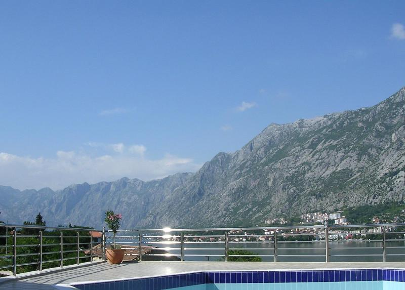 View from pool across the bay - Modern apartment only a few metres from the sea! - Kotor - rentals