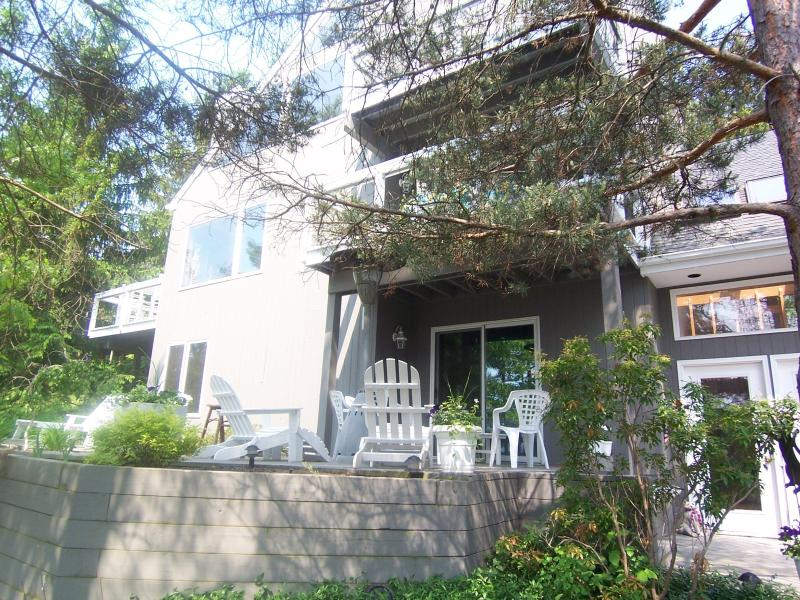 Front with deck - Sleep up to 10  finger lakes on Canandaigua Lake - Canandaigua Lake - rentals