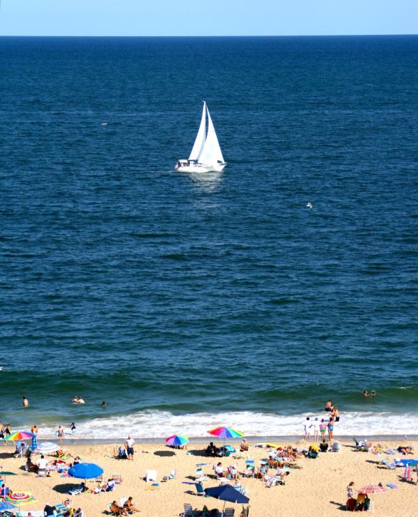 Balcony View SW915 - OCEANFRNT 3 Br N. O.C Luxury Slp.6 - SeaWatch# 915 - Ocean City - rentals